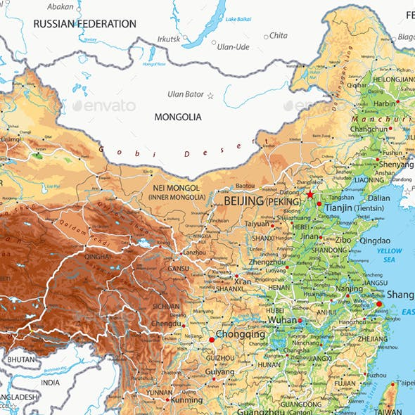 China Physical Map