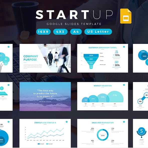 Startup Company Pitch Deck Google Slides Template