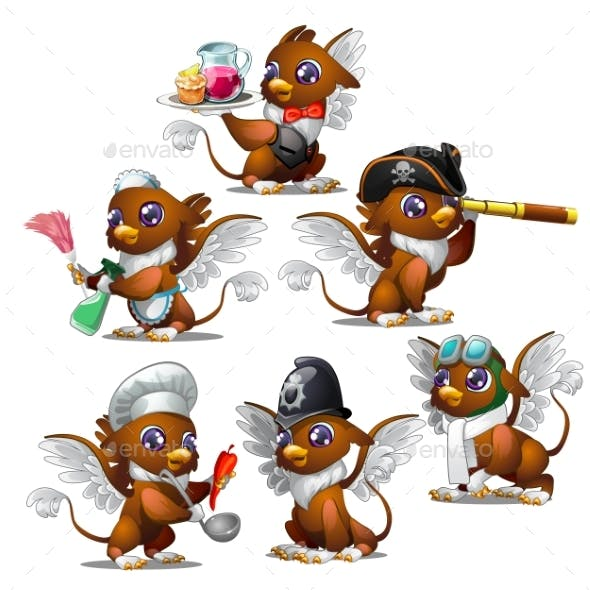 Griffins in Six Different Characters