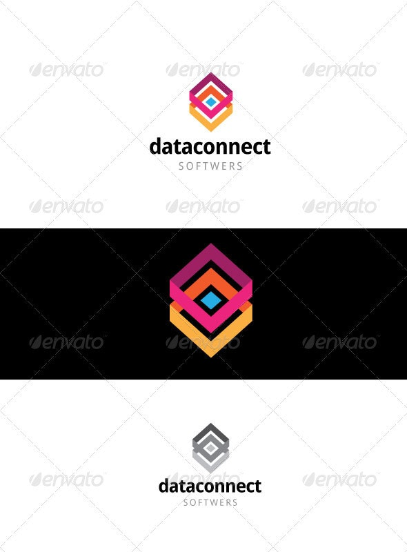Data connect - Vector Abstract