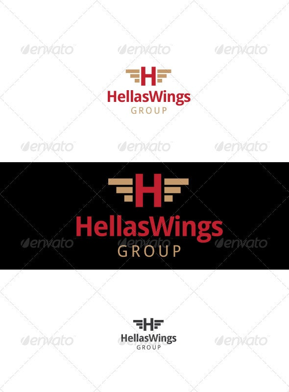 Hellas Wings - Letters Logo Templates