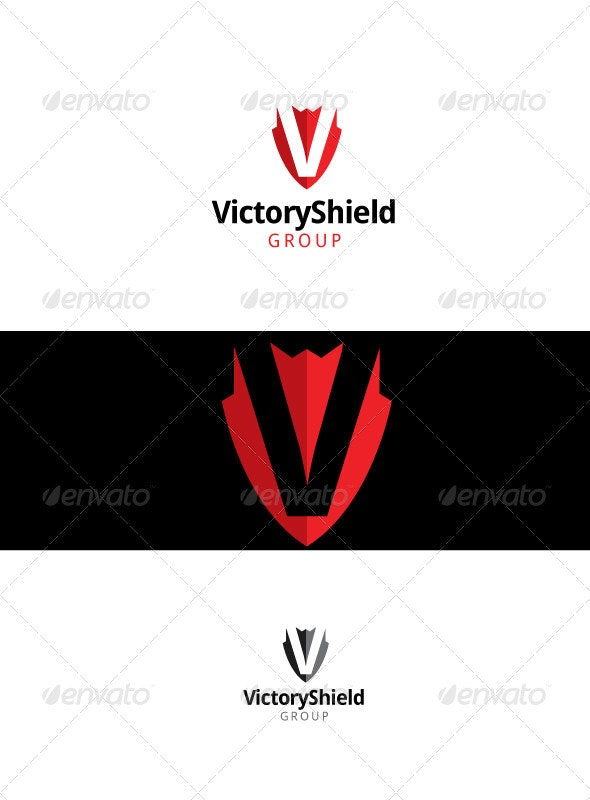 Victory Shield - Letters Logo Templates
