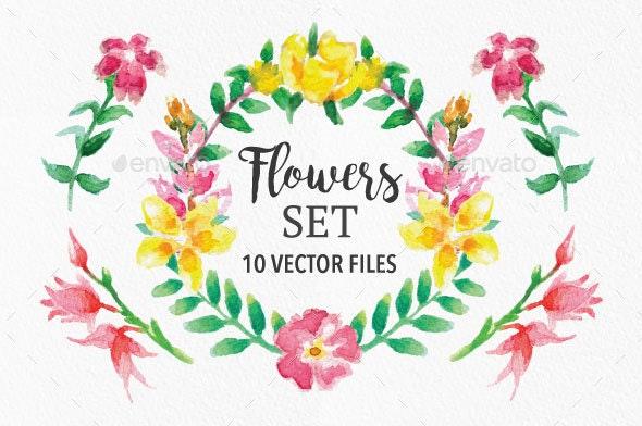 Flowers Set for Adobe Illustrator #1