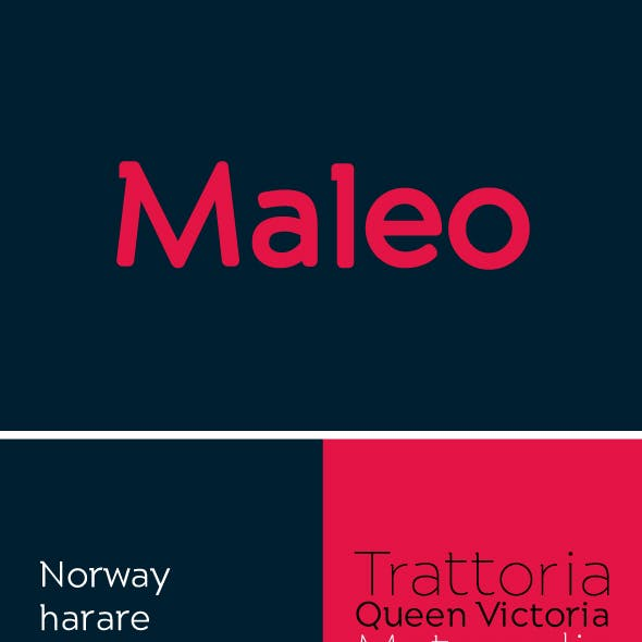 Maleo Semi Serif Typeface