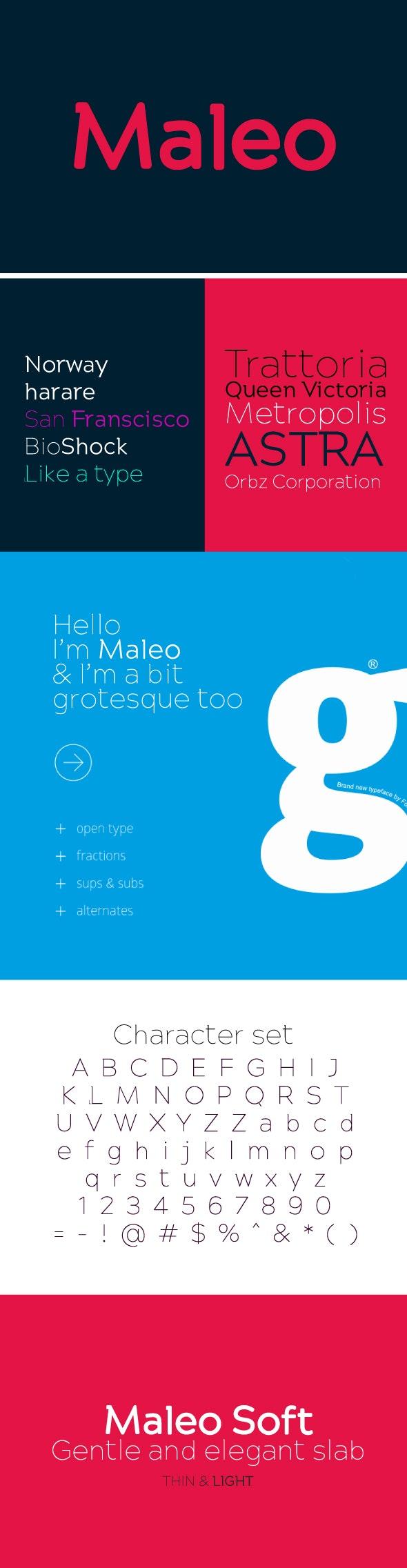 Maleo Semi Serif Typeface - Sans-Serif Fonts