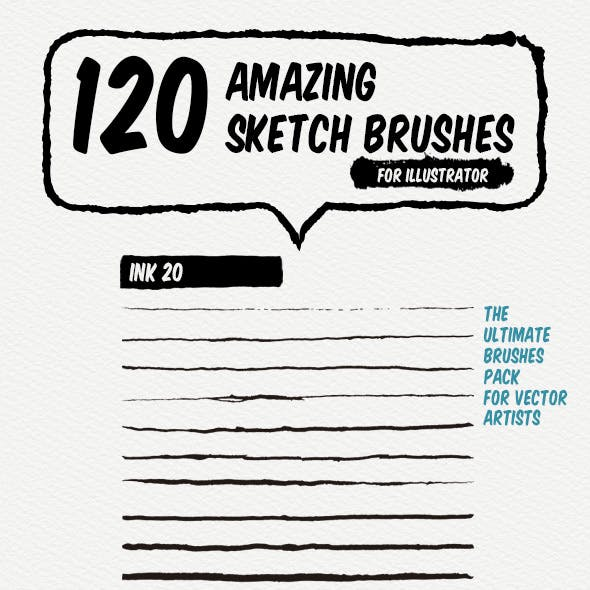 120 Sketch Art Brushes
