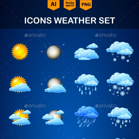 Icon Weather Set