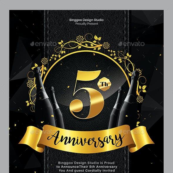 Anniversary Celebration Party Flyer
