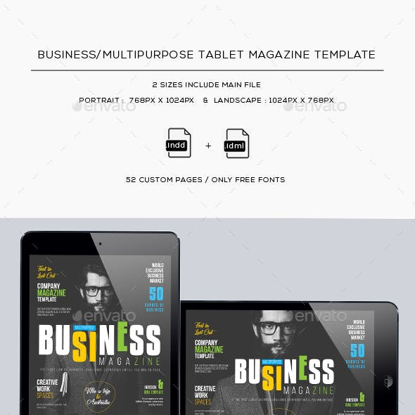 Business/Multipurpose Tablet Magazine Template