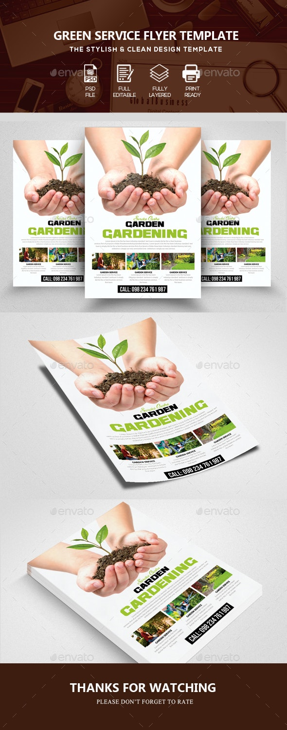 Plantation Services Flyer Template - Corporate Flyers