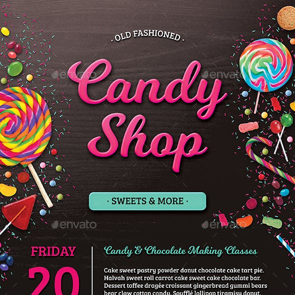 Business Flyer: Candy Shop