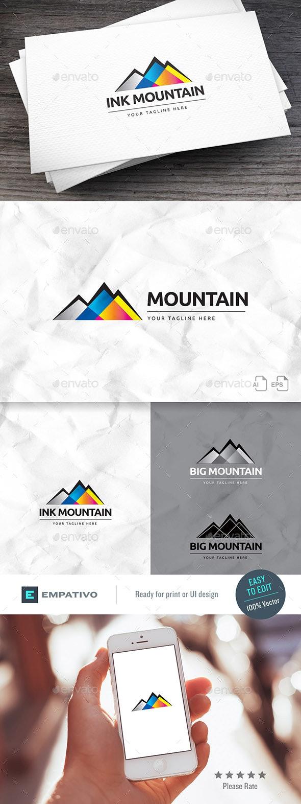 Ink Mountain Logo Template - Nature Logo Templates