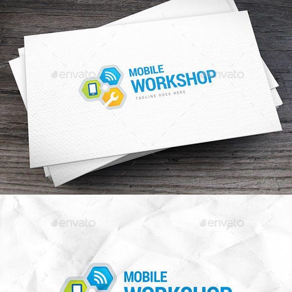 Mobile Workshop Logo Template