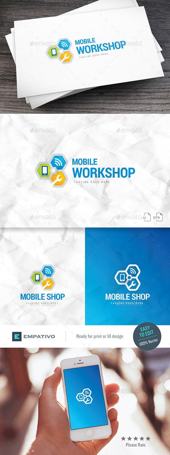 Mobile Workshop Logo Template - Symbols Logo Templates