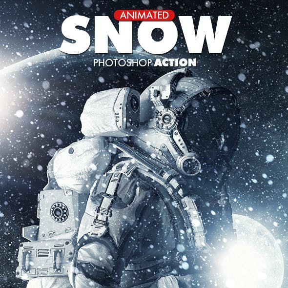 Snow Photoshop Action - Animated