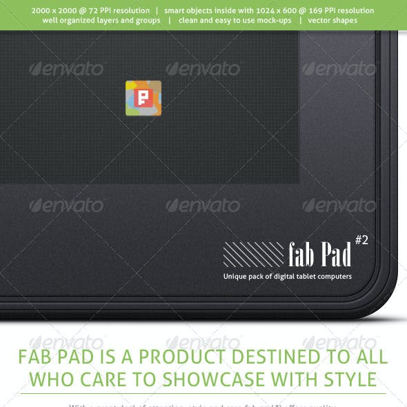 Fab Pad #2 - Digital Tablet Computers Mock-ups
