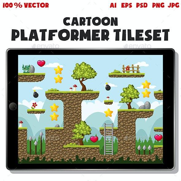 Cartoon Platformer Tileset