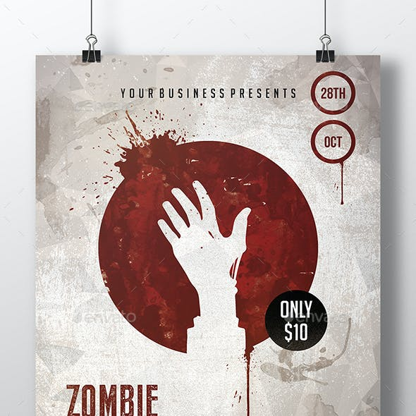 Bloody Hand Flyer Template