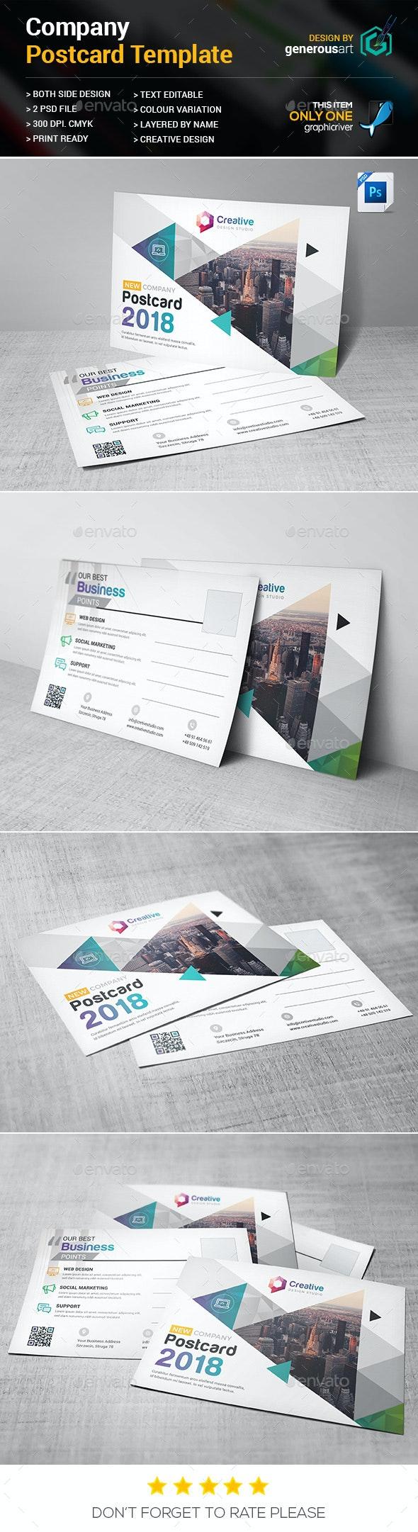 Company Postcard - Cards & Invites Print Templates