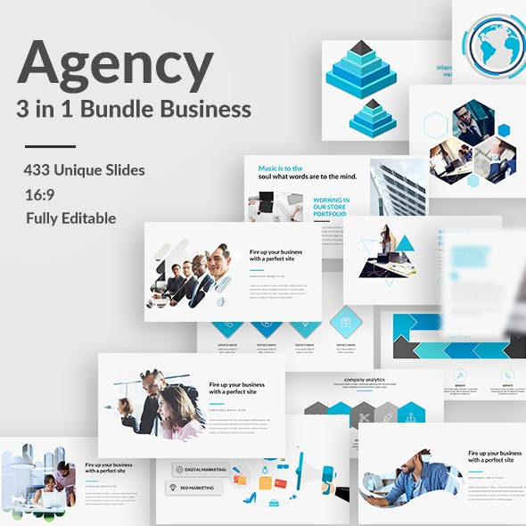 Agency Bundle - 3 in 1 Powerpoint Template