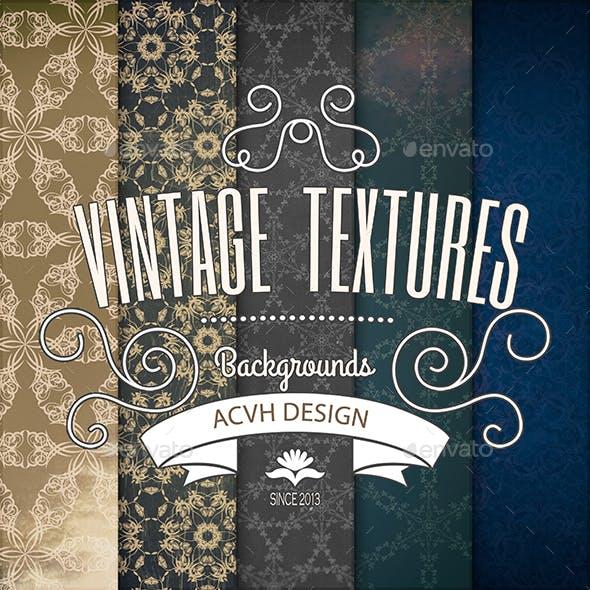 Vintage Ornament Background Textures Volume 1