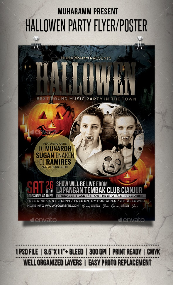Hallowen Flyer / Poster - Clubs & Parties Events