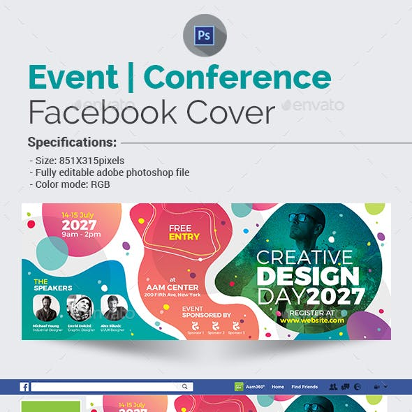 Event | Conference Facebook Cover Template
