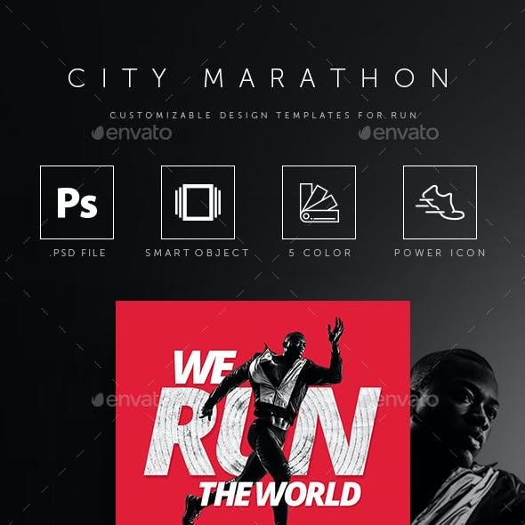 Run Marathon Event Poster / Flyer