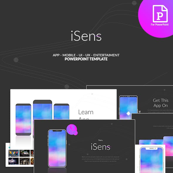 Isens - App PowerPoint Template