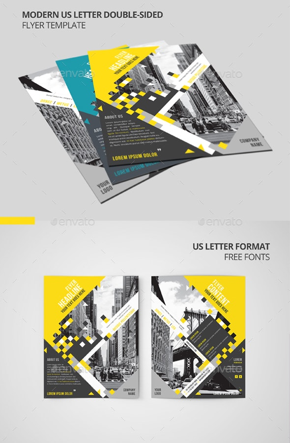 Letter Double Sided Flyer Template