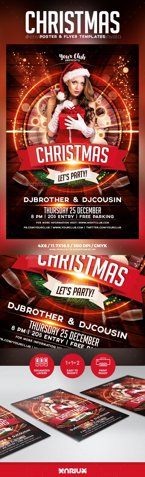 Christmas Party Flyer and Poster - Holidays Events