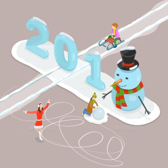 Happy New Year 2018 and Merry Christmas Concept - Sports/Activity Conceptual