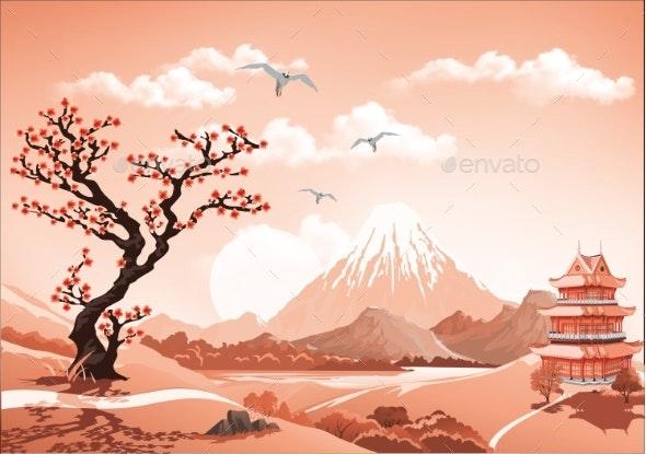Landscape of Nature Asia Morning - Landscapes Nature