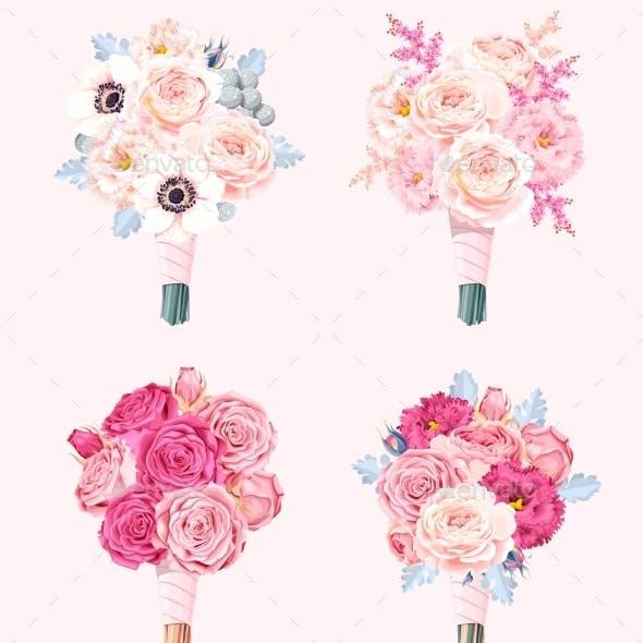 Set of Wedding Bouquets