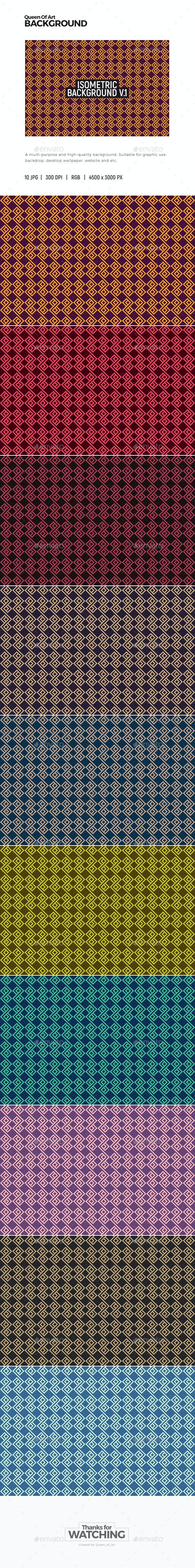 Isometric Background 1 - Patterns Backgrounds