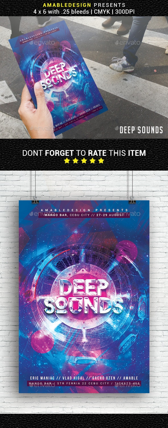 Deep Sounds Flyer - Events Flyers