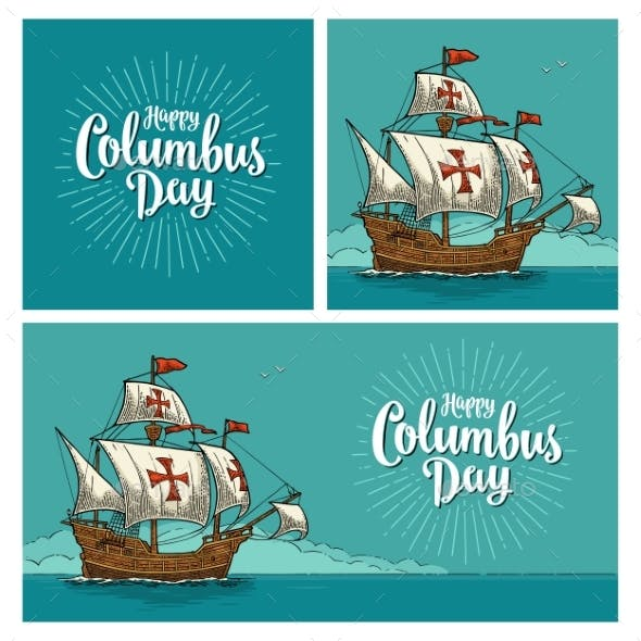 Posters for Happy Columbus Day