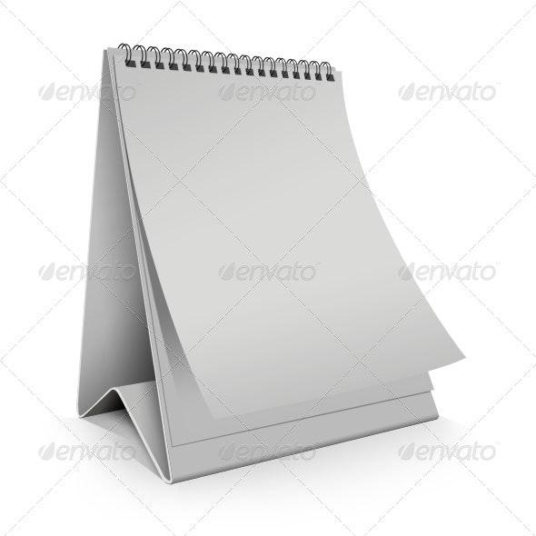 Blank Desk Calendar vertical - Miscellaneous Print