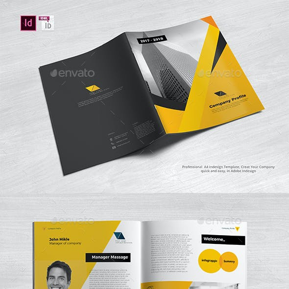 Company Profile A4 Graphics, Designs & Templates