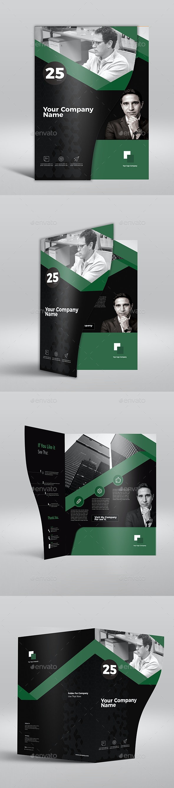 Business Company Folder - Packaging Print Templates