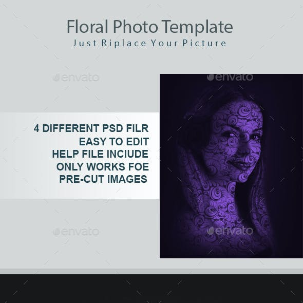 Floral Photo Template
