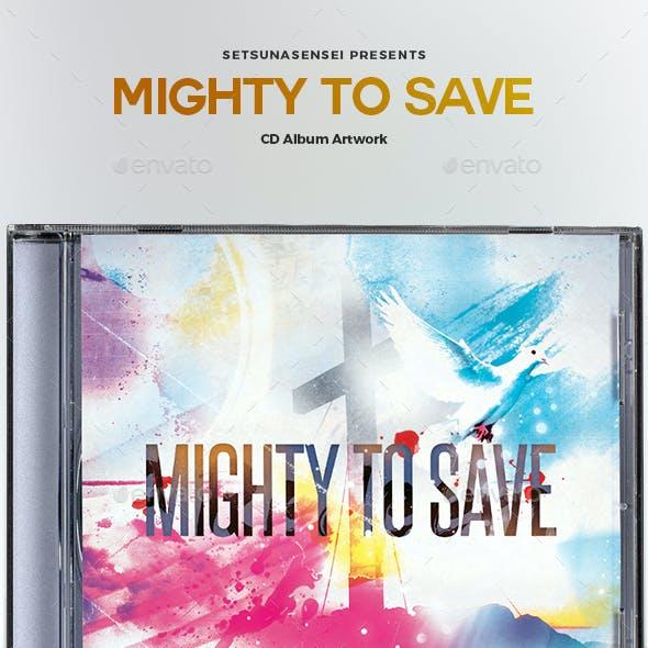 Mighty to Save CD Album Artwork