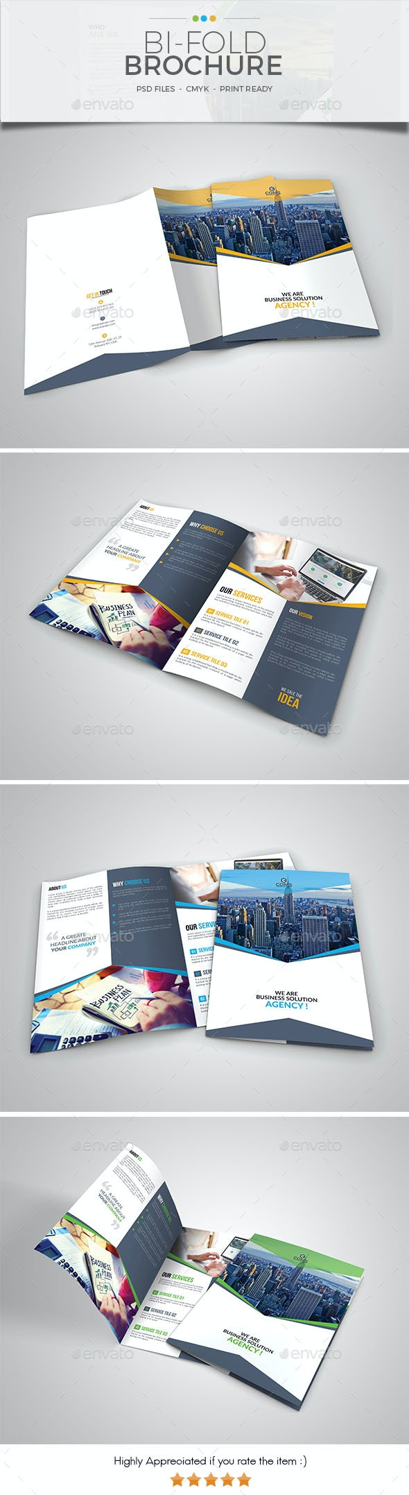 Corporate Bifold Brochure Template 03 - Corporate Brochures