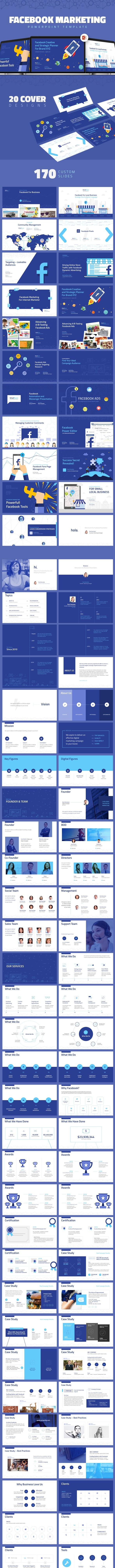 Facebook Marketing Presentation - Business PowerPoint Templates