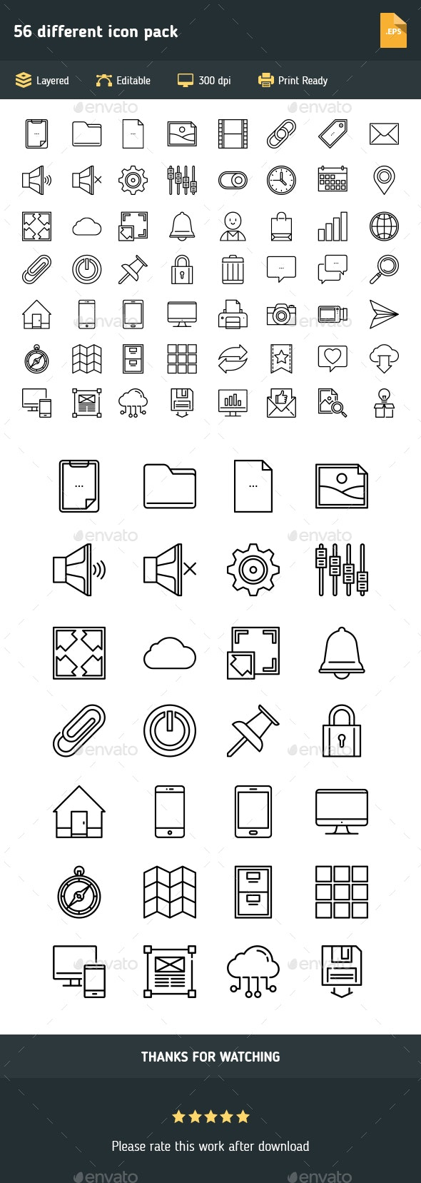 56 different icon pack - Icons