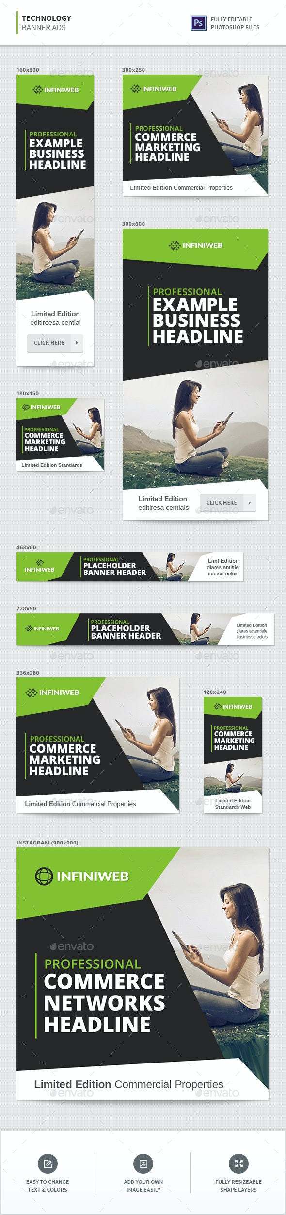 Technology Banners - Banners & Ads Web Elements