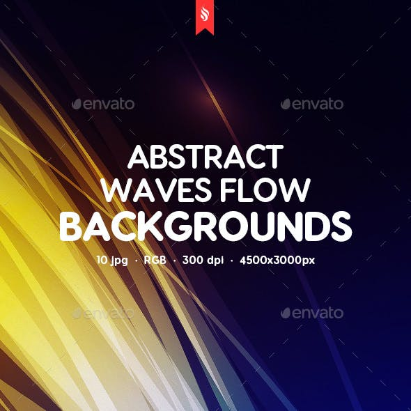 Abstract Waves Flow Backgrounds