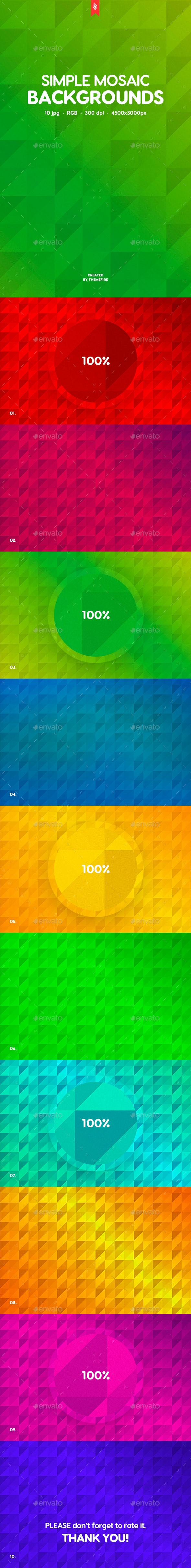 Simple Mosaic Backgrounds - Patterns Backgrounds