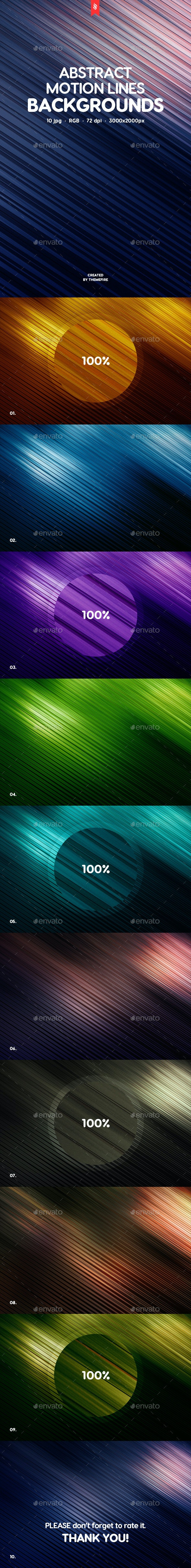 Abstract Motion Lines Backgrounds - Abstract Backgrounds