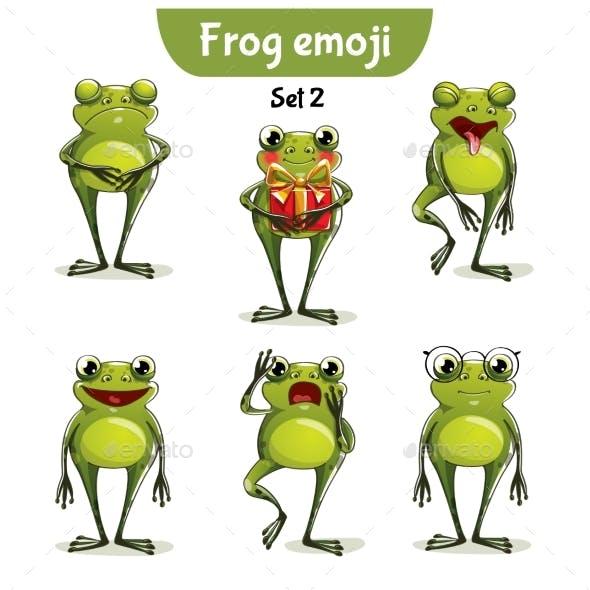 Vector Set of Frog Characters. Set 2